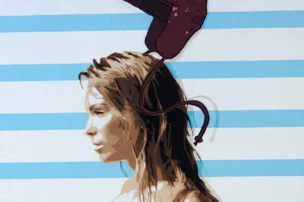 Aérosol et peinture-acrylique sur toile 15M
