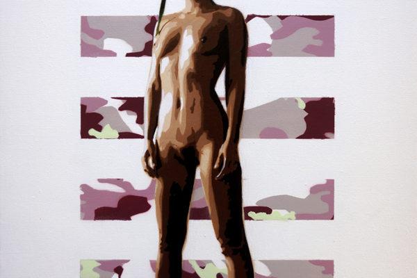 Aérosol et peinture acrylique sur toile 50x65cm